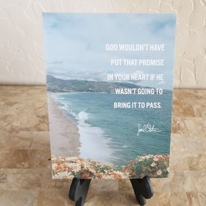 Inspirational sign w/stand NWOT